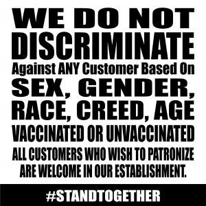 cartello anti-discriminatorio