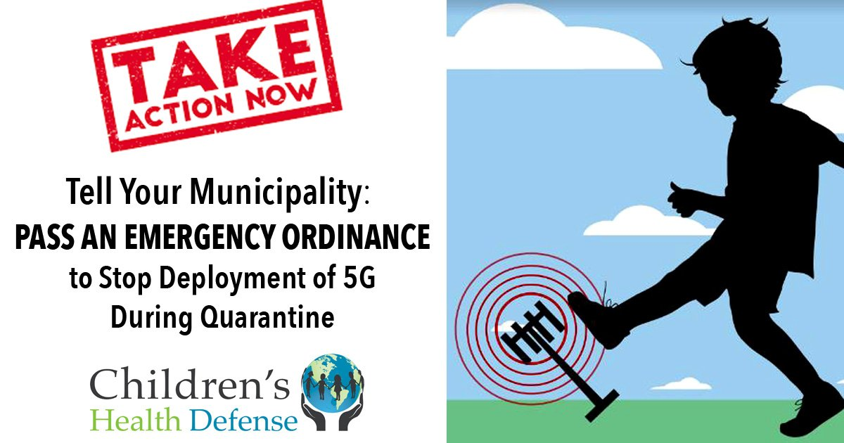 Pass an emergency ordiance to stop deployment of 5g during quaranitne