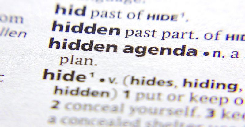 Vanden Bossche has a not-so-hidden agenda.