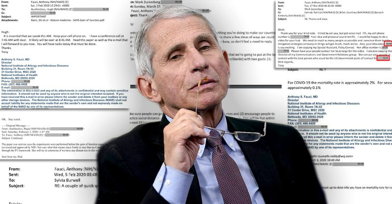 Fauci Emails: A tangled web of lies.