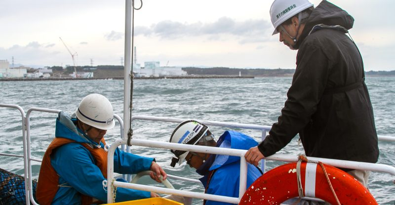 Collecting sea water samples near the damaged Fukushima nuclear power station. Image: By IAEA Imagebank, via Wikimedia Commons