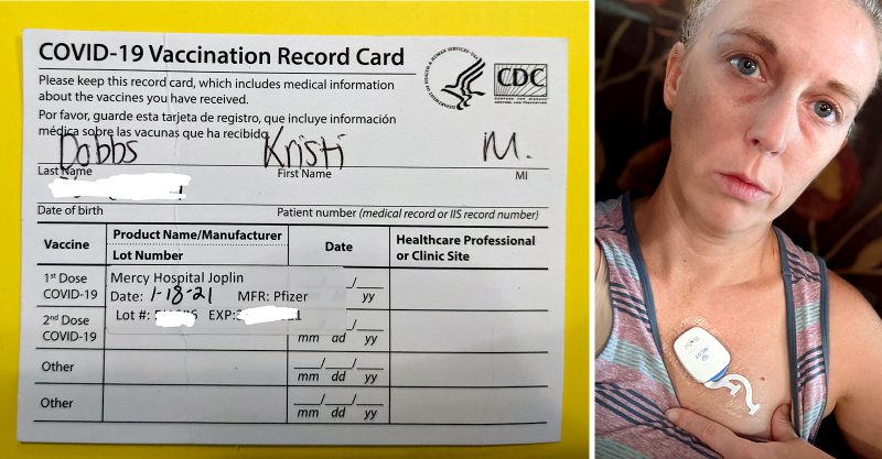 Kristi Dobbs, a 40-year-old dental hygienist from Missouri, said she can no longer work after being injured by Pfizer's COVID vaccine.