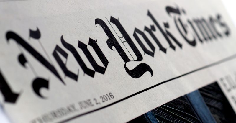 El New York Times, en un artículo publicado el 6 de octubre, exageró el número de niños hospitalizados con COVID en Estados Unidos en más de 800.000.