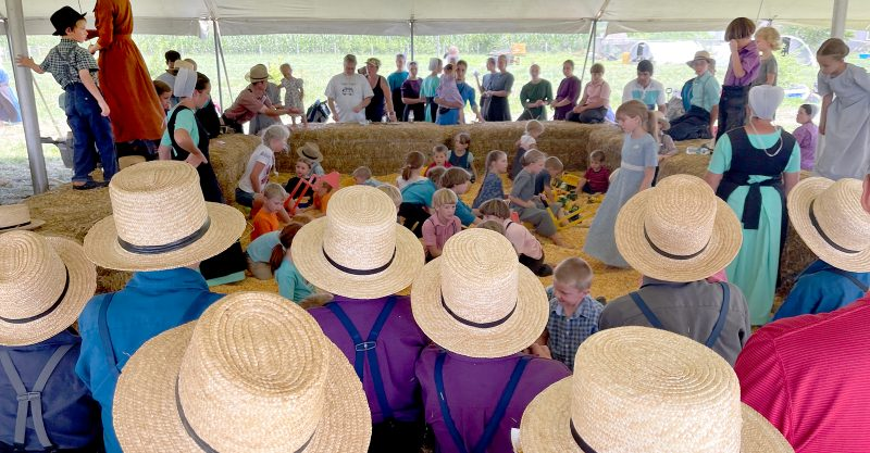 Robert F. Kennedy, Jr., spoke to a packed audience at an Amish country fair in Lancaster, Pennsylvania.