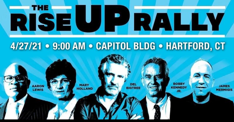 groups have organized a 'Rise Up Rally' to begin at 9 a.m. April 27.