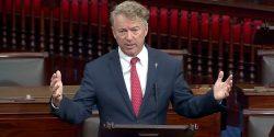 El Senador Rand Paul subió a la tribuna del Capitolio para criticar a los medios de comunicación y al Dr. Anthony Fauci por haber difundido falsedades sobre el COVID.