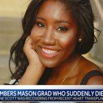 Simone Scott, estudiante de primer año de la Universidad Northwestern de Evanston (Illinois), de 19 años de edad, falleció el 11 de junio por complicaciones derivadas de un trasplante de corazón.