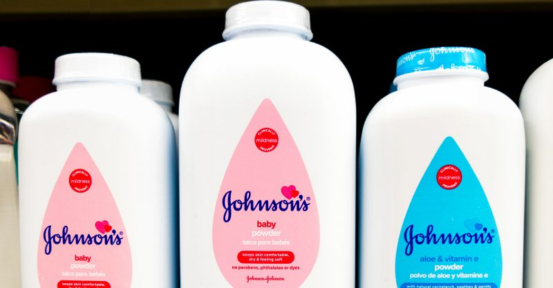 J&J stopped selling talc powder products in the U.S. and Canada last year.
