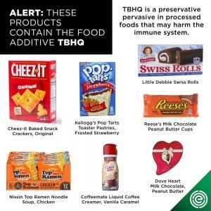TBHQ is a preservative that is pervasive in processed foods.