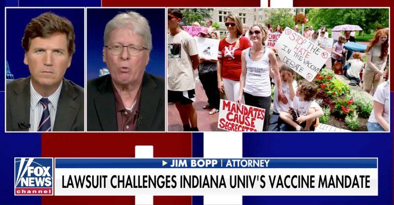 Fox News commentator Tucker Carlson interviewed First Amendment attorney Jim Bopp.