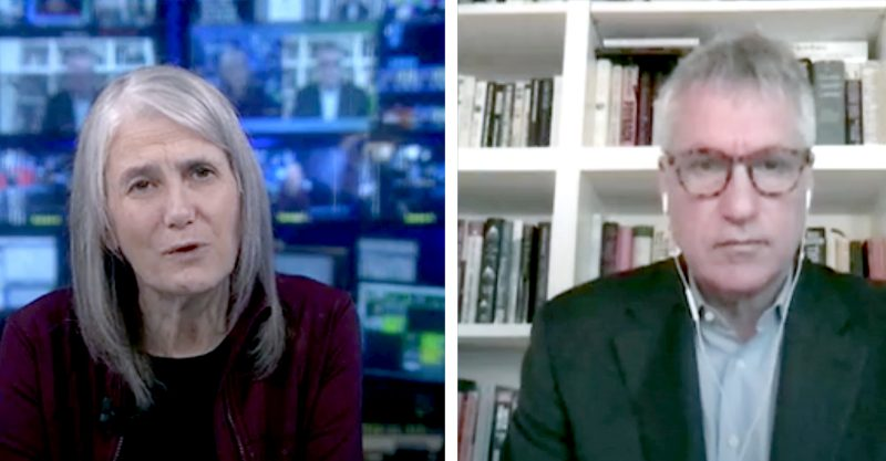 Amy Goodman and Steven Donziger.