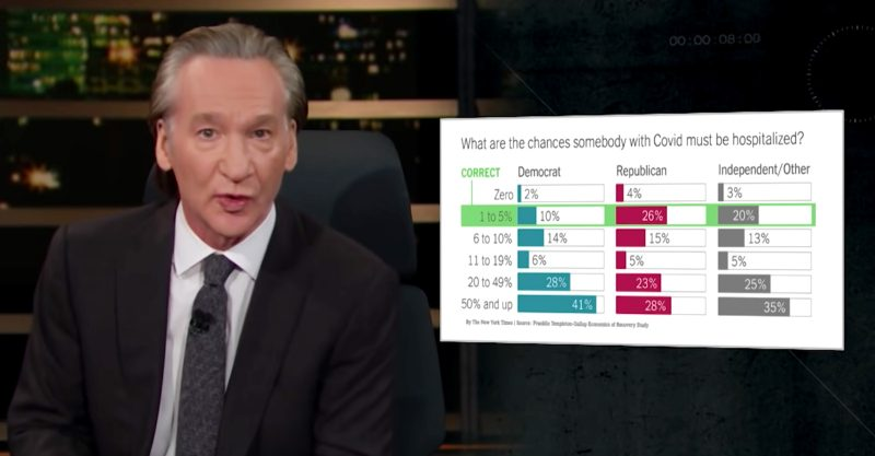 Bill Maher's latest new rule is this: 'Don't spin me when it comes to my health.'