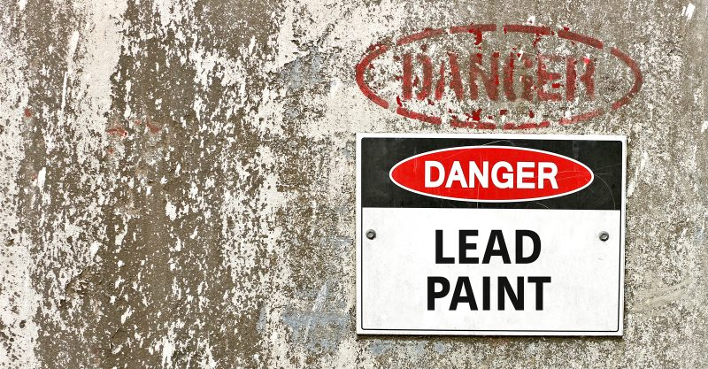 One of the most common causes of lead poisoning in children is the ingestion of lead dust from deteriorating paint.