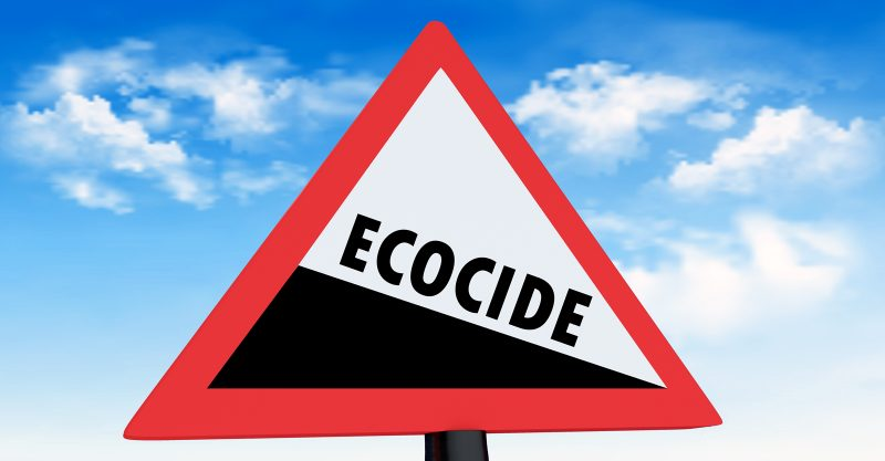 Ecocide means to destroy the environment, but when considered etymologically, from the Greek and Latin, it signifies to kill one's home.