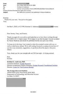 Fauci email