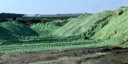 A pesticide pile Mead, Nebraska. Image credit: Carey Gillam