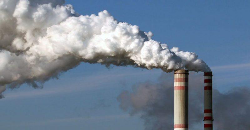 Smokestacks from factory.