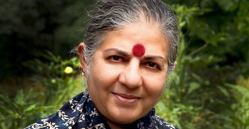 Vandana Shiva, Ph.D., is a physicist and activist who works tirelessly to defend the environment and protect biodiversity.