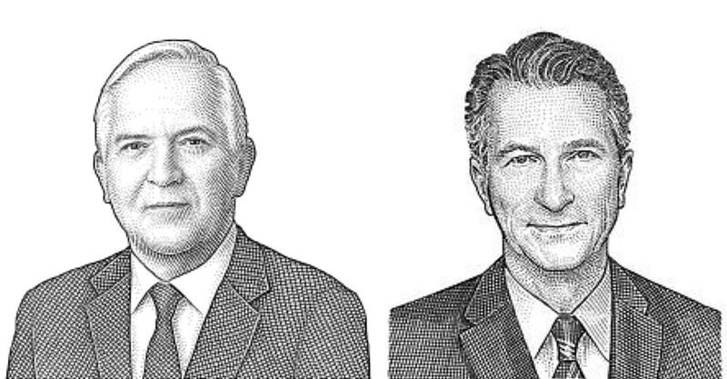 Paul Gigot (left) and Daniel Henninger (right) are the leading editors of the Wall Street Journal's Editorial Board.
